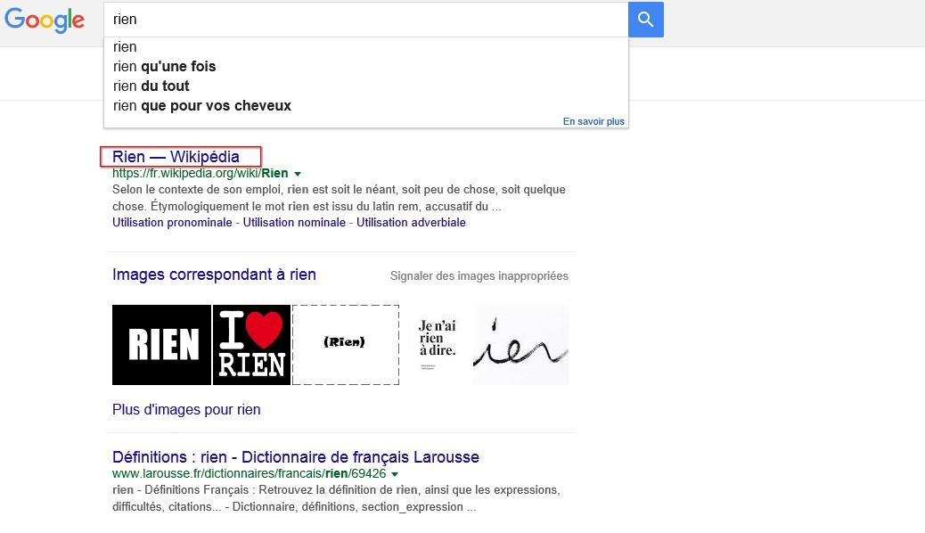 Google rien