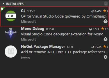 Visual Studio code C# extension
