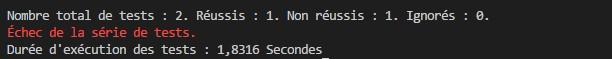 Visual Studio code test unitaire