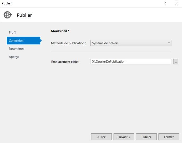 Configuration des paramètres de déploiement 1