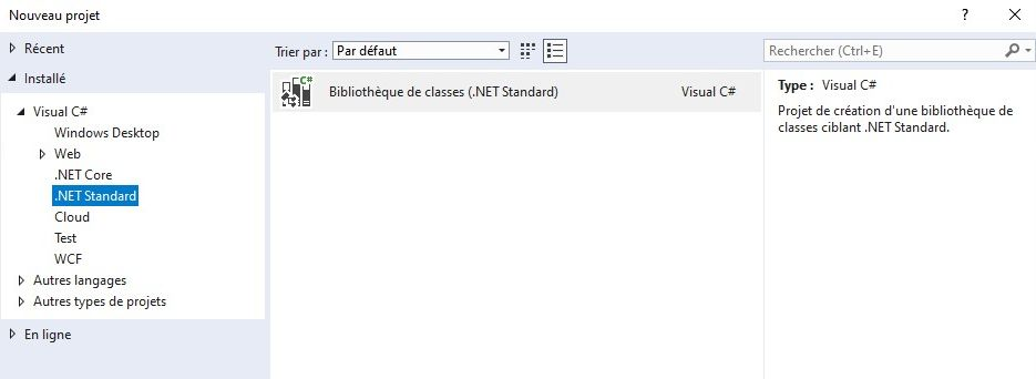Bibliothèque .NET Standard